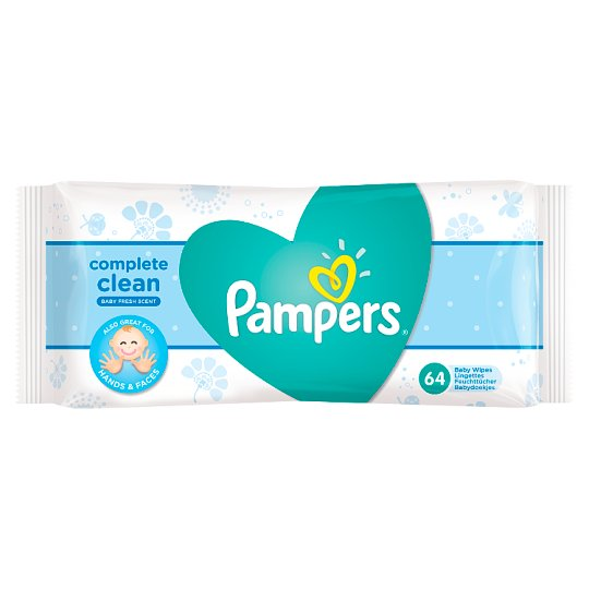 image 1 of Pampers Fresh Clean Baby Wipes 1X64 - 64 Wipes