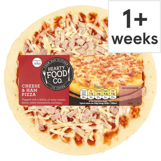 Hearty Food Co Cheese And Ham Pizza 124G