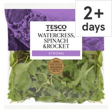 Tesco Watercress Spinach And Rocket 80G