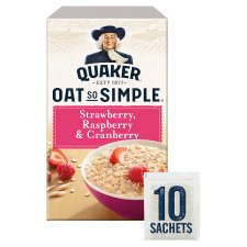 Quaker Oat So Simple Strawberry Cranberry Porridge 10 X33.9G