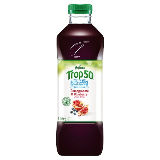 Tropicana Trop 50 Pomegranate And Blueberry Juice 1 L