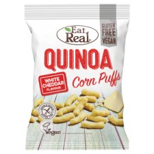 Eat Real Quinoa Puff White Cheddar 113G