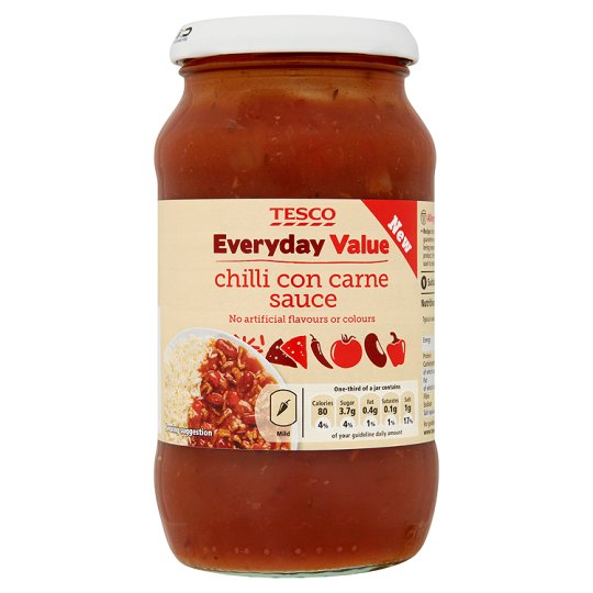 Tesco Everyday Value Chilli Con Carne Sauce 440G