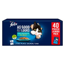 Felix As Good As It Looks Cat Food Ocean Feasts 40X100g