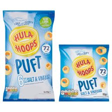 image 2 of Hula Hoops Puft Salt And Vinegar Crisps 6 X 15 G