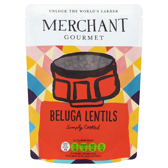 Merchant Gourmet Ready To Eat Beluga Lentils 250G