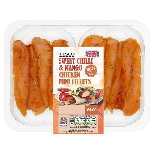 image 1 of Tesco Bbq Mango And Sweet Chilli Chicken Mini Fillets 300G