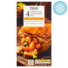 Tesco 4 Chicken And Vegetable Pies 568G
