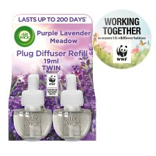 Airwick Air Freshener Purple Lavender Plug In Refill 2 X 17 Ml