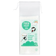 Fred & Flo Cotton Wool Square Pads 50S