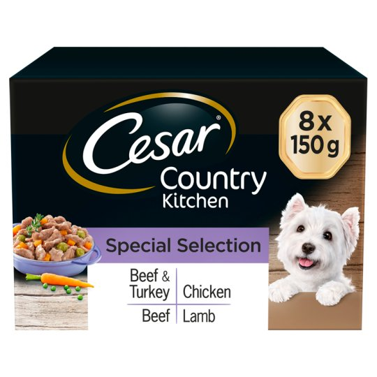 image 1 of Cesar Country Kitchen Dog Food Trays 8 X150g