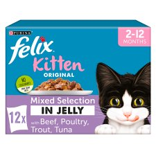 image 1 of Felix Pouch Kitten Mixed Selection In Jelly 12X100g
