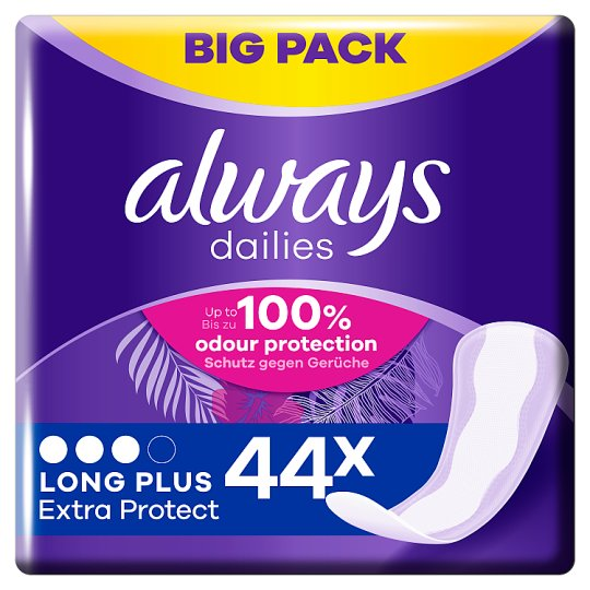 image 1 of Always Dailies Extra Protect Long Plus Panty Liners 44 Pack