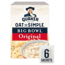 Quaker Oat So Simple Big Bowl Original Porridge 6 X 38.5G 231G