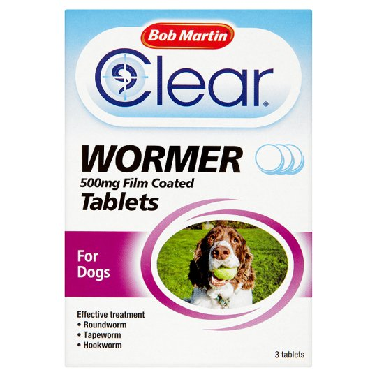 Bob Martin All In One Dog Dewormer 3 Tablets