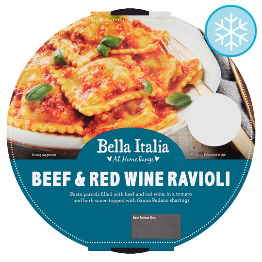 Bella Italia Beef And Red Wine Ravioli 450G