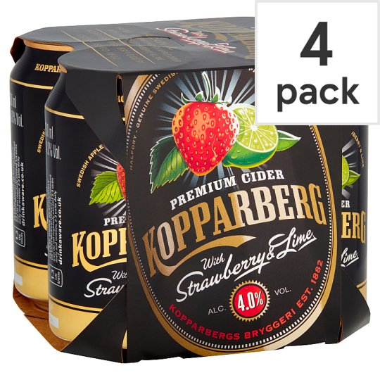 Kopparberg Strawberry And Lime Can 4X330ml