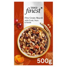 Tesco Finest Fruit Nut And Seed Muesli 500G