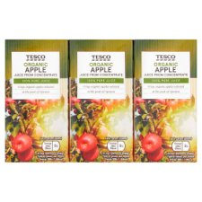 Tesco Organic Apple Juice 3X200ml