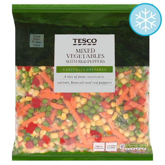 Tesco Mixed Vegetables With Red Peppers 1Kg
