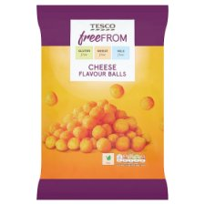 Tesco Free From Cheese Flavored Balls 150G