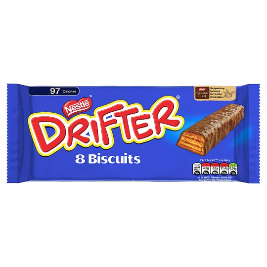 Nestle Drifter Chocolate Biscuits 8 Pack 157.6G