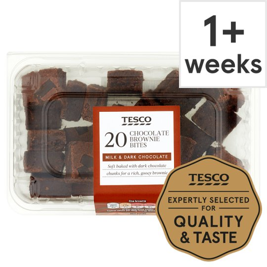 Tesco Mini Chocolate Brownie Bites 20 Pack