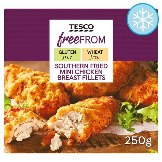 Tesco Free From Southern Fried Mini Chicken Fillets 250G