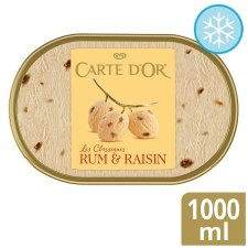 Carte D'or Rum And Raisin Ice Cream Dessert 1L