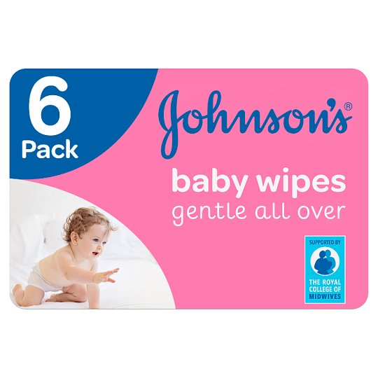 image 1 of Johnsons Baby Gentle All Over Wipes 6X56 Pack