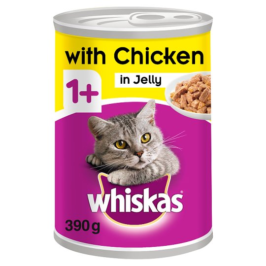 image 1 of Whiskas 1+ Chicken In Jelly Tinned Cat Food 390G