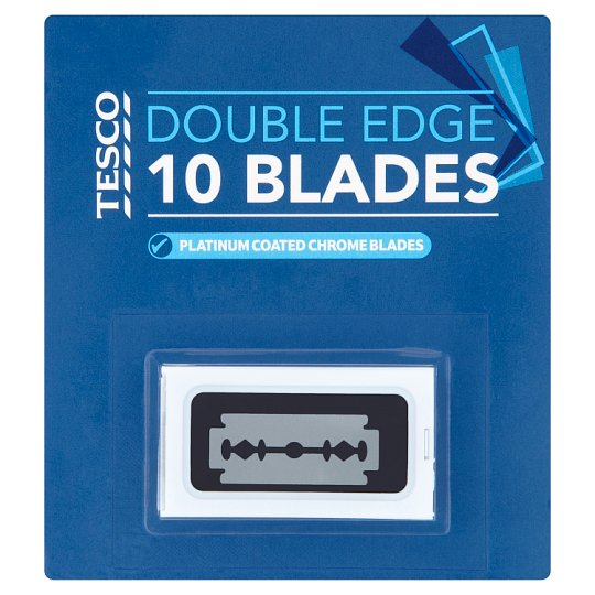 Tesco Double Edged Blades 10 Pack