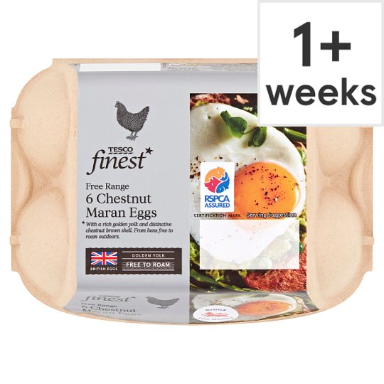 Tesco Finest Mixed Sized Brown Eggs 6 Pack