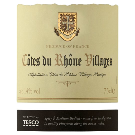 Tesco Cotes Du Rhone Villages 75Cl