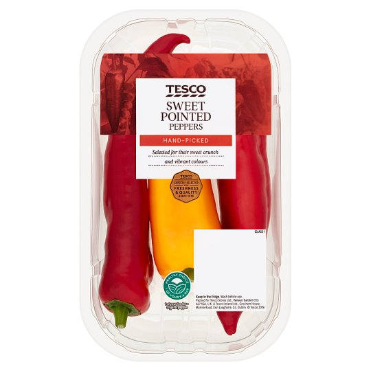 image 1 of Tesco Sweet Pointed Peppers 280G