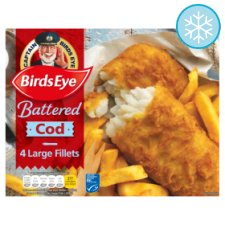 Birds Eye 4 Large Cod Fillets Battered 480G