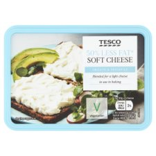 Tesco 50% Less Fat Soft Cheese 150G