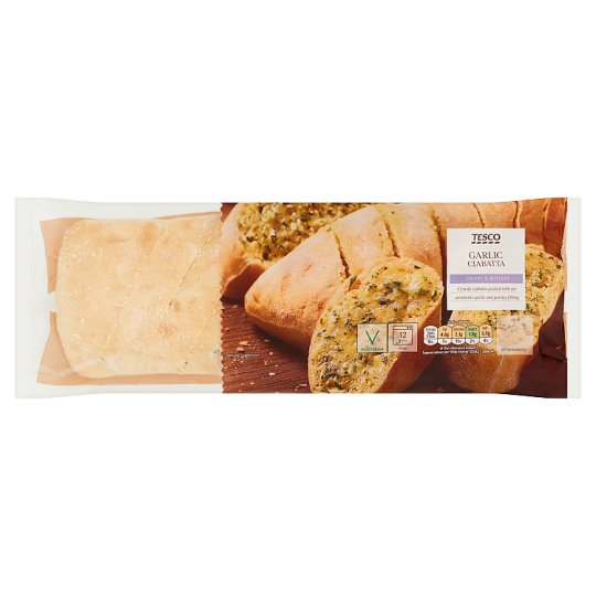 Tesco Garlic Ciabatta 260G