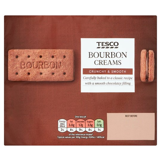 Tesco Bourbon Creams Biscuits 296G