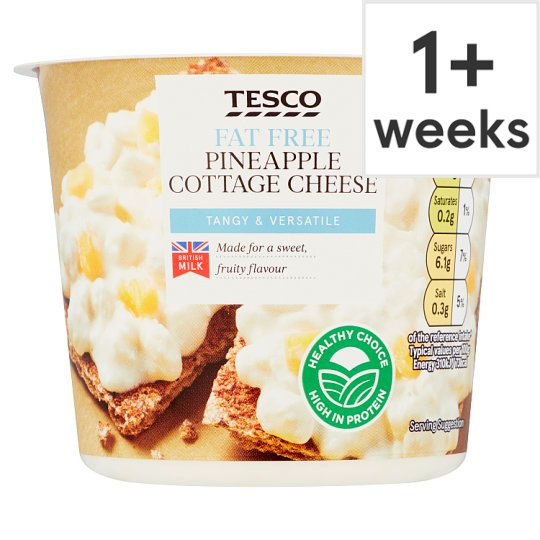 Tesco Pineapple 0 Fat Cottage Cheese 300G