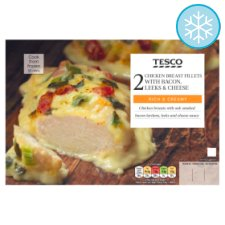 Tesco Chicken With Bacon, Leeks And Cheese 390G
