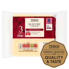 Tesco British Mature Cheddar Cheese 220G