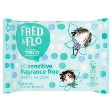 Fred And Flo 60 Sensitive Toilet Wipes