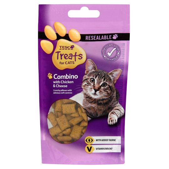 Tesco Combinos Treats For Cats Chicken And Cheese 65G