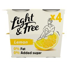 Light & Free Greek Style Lemon Yogurt 4X115g