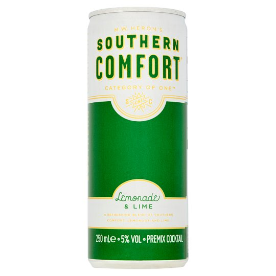 Southern Comfort Lemonade And Lime Can 250Ml