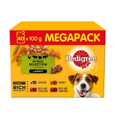 image 1 of Pedigree Pouch Meat And Vegetable 40 Pack X 100G