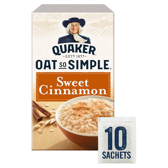 image 1 of Quaker Oat So Simple Sweet Cinnamon Porridge 10 X33g