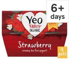 image 1 of Yeo Valley Strawberry Yogurt 4X120g