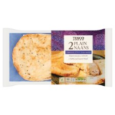 Tesco Plain Naan 2 Pack